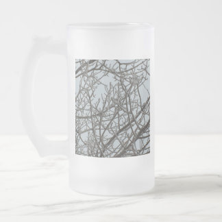 Frost Explosion Frosted Glass Beer Mug
