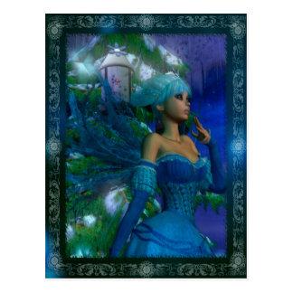 Frost Fae Winter Fantasy Digital Art Postcard