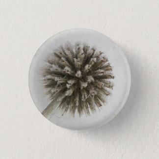 Frost flower ball thorn winter 1 inch round button