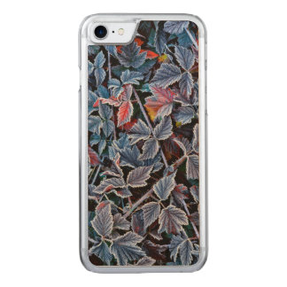 Frost on autumn leaves, Oregon Carved iPhone 7 Case