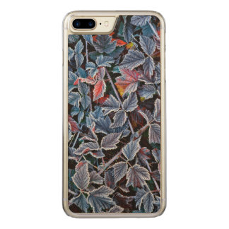 Frost on autumn leaves, Oregon Carved iPhone 7 Plus Case