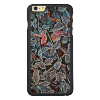 Frost on autumn leaves, Oregon Carved® Maple iPhone 6 Plus Case