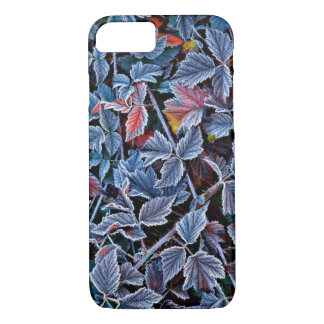 Frost on autumn leaves, Oregon iPhone 7 Case