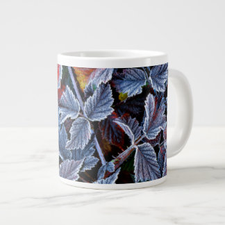 Frost on autumn leaves, Oregon Large Coffee Mug