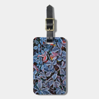 Frost on autumn leaves, Oregon Luggage Tag