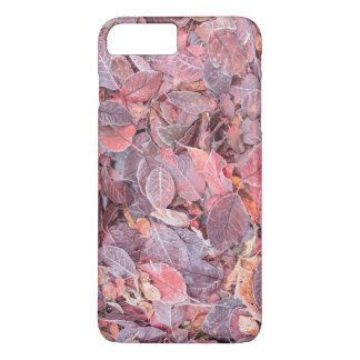 Frost on fallen leaves, Fall colors, Mill Creek iPhone 7 Plus Case