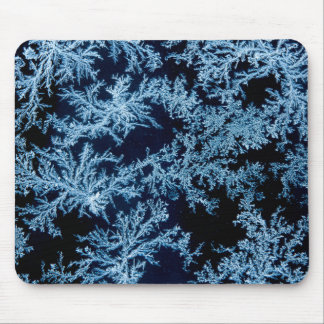 Frost patterns close-up, California Mouse Pad