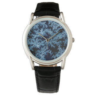 Frost patterns close-up, California Wristwatches