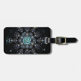 Frost Rose Luggage Tag