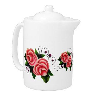 Frost Rosen, Pink rose, folk rose flower print 2