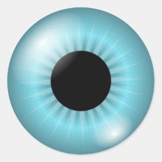 Frost Teal Blue Eye Round Sticker