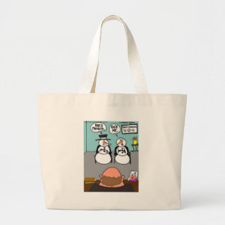 Frost The Snowman & Wife Frigid Funny Tees Mugs Large Tote Bag