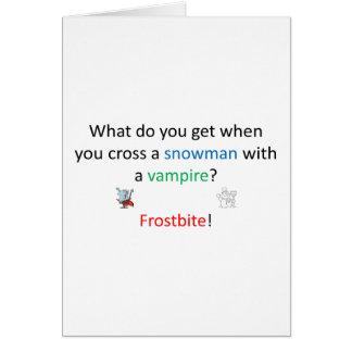 Frostbite joke card