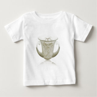 Frosted Art Deco vase with two cherubs. Baby T-Shirt