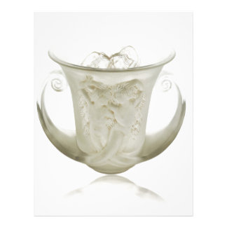 Frosted Art Deco vase with two cherubs. Letterhead