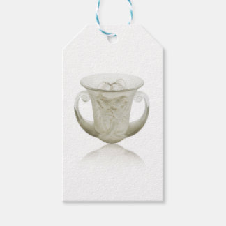 Frosted Art Deco vase with two cherubs. Pack Of Gift Tags
