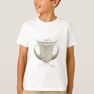 Frosted Art Deco vase with two cherubs. T-Shirt