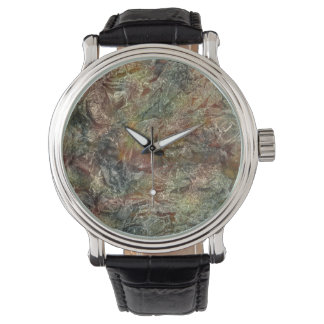 Frosted Autumn Abstract Art Watch
