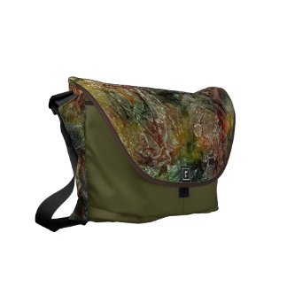 Frosted Autumn Abstract Pattern Courier Bags