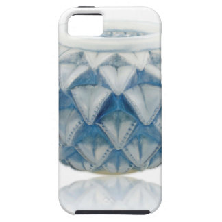 Frosted blue Art Deco vase with etched design. iPhone 5 Case