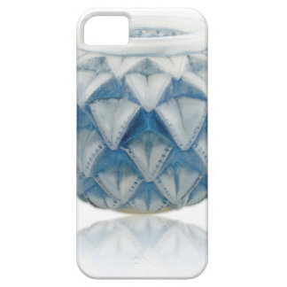 Frosted blue Art Deco vase with etched design. iPhone 5 Cover