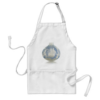 Frosted blue Art Deco vase with fruit. Standard Apron