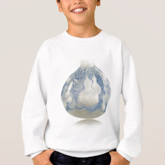 Frosted blue Art Deco vase with fruit. Sweatshirt