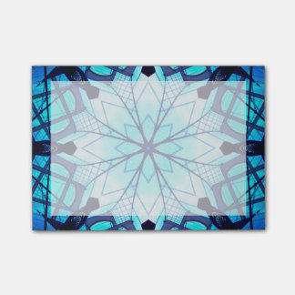 Frosted Blue Star Mandala Post-it Notes