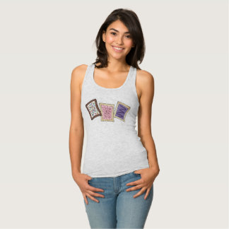 Frosted Breakfast Toaster Pastry Junk Food Foodie Tank Top