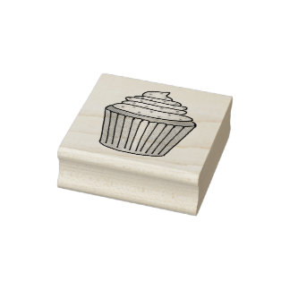 Frosted Cupcake w/ Sprinkles Sweet Cupcakes Stamp