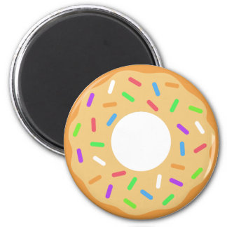 Frosted Donut with Sprinkles Magnet
