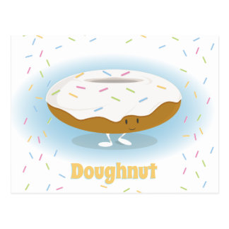 Frosted Donut with Sprinkles | Postcard