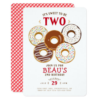 Frosted Donuts Birthday Invitation