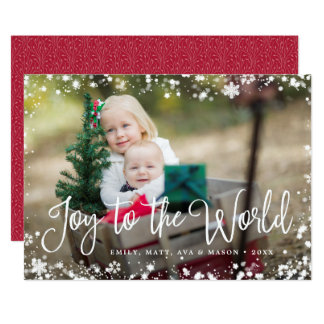 Frosted Frame Holiday Photo Card