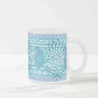 Frosted Glass Mag - Indian Blue Frosted Glass Coffee Mug