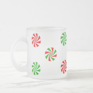 Frosted Glass Mint Candy Holiday Mug