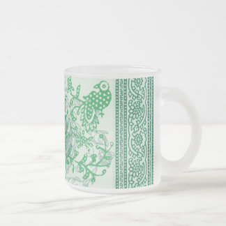 Frosted Glass Mug - Indian Green