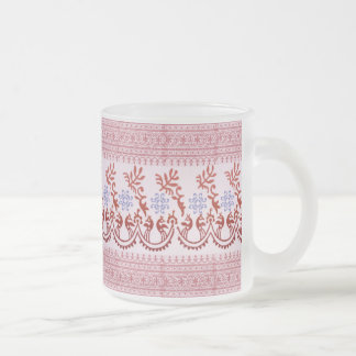 Frosted Glass Mug - Indian Red