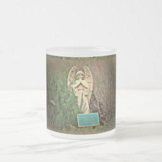 Frosted Glass Mug - Sedona Angel