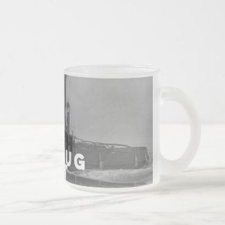 Frosted Glass Mug Tough As A Tug Boat