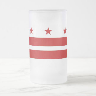 Frosted Glass Mug with flag of Washington DC, USA
