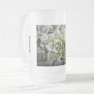 frosted glass packs natural winter plants white frosted glass beer mug