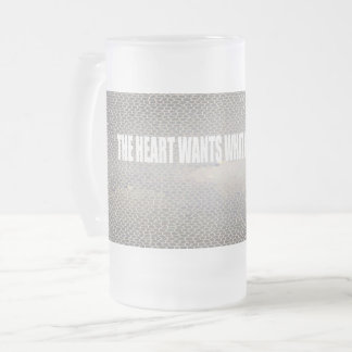 frosted glass patter mug