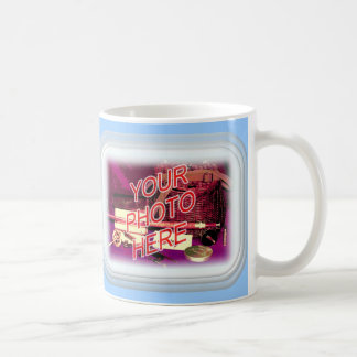 Frosted Glass Rectangle Frame Coffee Mugs