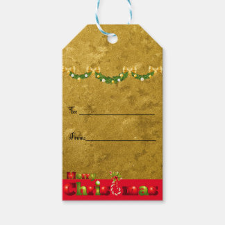 Frosted Gold Christmas Gift Tags Pack Of Gift Tags