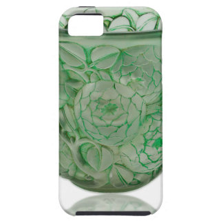 Frosted Green Art Deco glass vase with Roses. iPhone 5 Cover