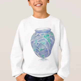 Frosted green Art Deco vase with grasshoppers. Sweatshirt