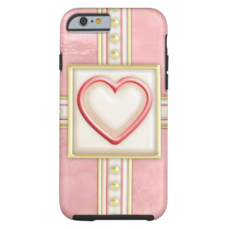 Frosted Heart Tough iPhone 6 Case