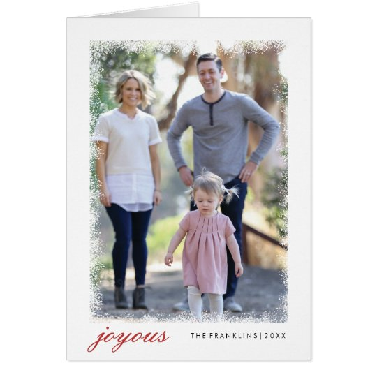 Frosted Holiday Photo Cards