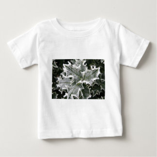 Frosted Holly Leaves Baby T-Shirt